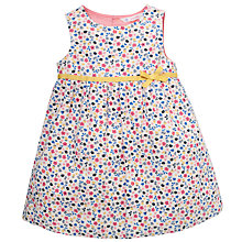 Buy John Lewis Flower Applique Cord Pinafore Dress, Blue Online at johnlewis.com