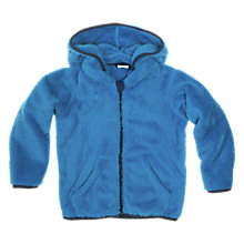 Buy Polarn O. Pyret Pile Hooded Fleece, Blue Online at johnlewis.com