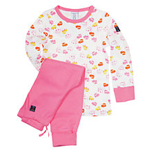 Buy Polarn O. Pyret Car Print Pyjamas, Pink Online at johnlewis.com