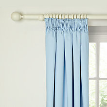 Buy little home at John Lewis Plain Pencil Pleat Blackout Lined Curtains, Blue Online at johnlewis.com