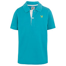 Buy Crew Clothing Boys' Robert Polo Shirt, Aqua Online at johnlewis.com