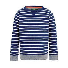 Buy John Lewis Boy Stripe Sweatshirt, Blue Online at johnlewis.com