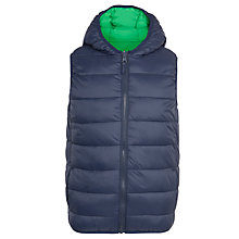 Buy John Lewis Boys' Reversible Gillet, Navy/Green Online at johnlewis.com