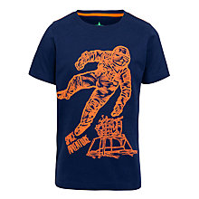 Buy John Lewis Boy Spaceman T-Shirt, Navy/Orange Online at johnlewis.com
