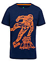 John Lewis Boy Spaceman T-Shirt, Navy/Orange