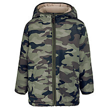 Buy John Lewis Boy Camo Padded Jacket, Khaki/Multi Online at johnlewis.com