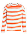 John Lewis Boy Long Sleeve Stripe T-Shirt, Red/Cream
