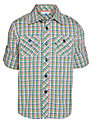John Lewis Boy Short Sleeve Check Shirt, Multi
