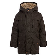 Buy John Lewis Boy Derbi Waxed Coat, Brown Online at johnlewis.com