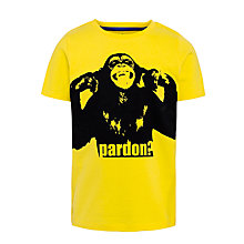 Buy John Lewis Boy Monkey Graphic T-Shirt, Yellow Online at johnlewis.com
