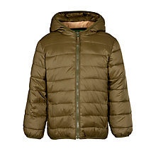 Buy John Lewis Boy Puffer Coat, Khaki Online at johnlewis.com