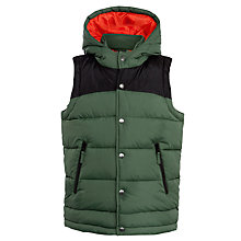 Buy John Lewis Boy Colour Block Quilted Gilet, Green Online at johnlewis.com