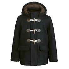 Buy John Lewis Boy Augusta Plain Coat, Navy Online at johnlewis.com