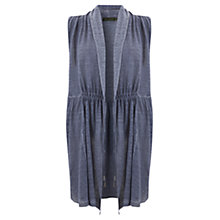 Buy Mint Velvet Linen Waistcoat, Cool Blue Online at johnlewis.com