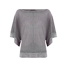 Buy Mint Velvet Kimono Sleeve Knit Top, Grey Online at johnlewis.com