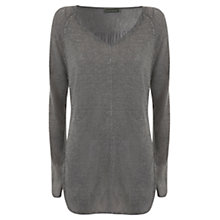 Buy Mint Velvet Drape Knit Tunic, Grey Online at johnlewis.com