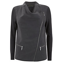 Buy Mint Velvet Biker Cardigan, Grey Online at johnlewis.com