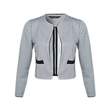 Buy Miss Selfridge Jacquard Textured Jacket, Multi Online at johnlewis.com