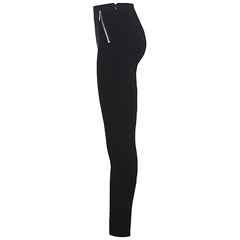 Buy Miss Selfridge Stretch Trousers, Black Online at johnlewis.com