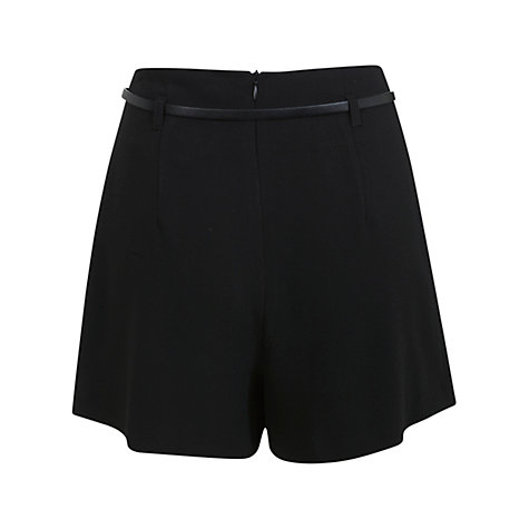 Buy Miss Selfridge Belted High Waist Skort, Black Online at johnlewis.com