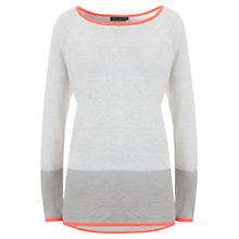 Buy Mint Velvet Blocked Neon Tipped Knit Top, Grey Online at johnlewis.com