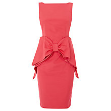 Buy Coast Glamour Bow Dress, Coral Online at johnlewis.com