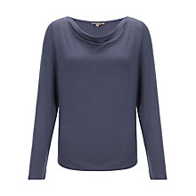 Buy Jigsaw Heavy Stretch Cowl Neck Top Online at johnlewis.com