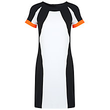 Buy Miss Selfridge Colour Block Dress, Fluorescent Orange Online at johnlewis.com