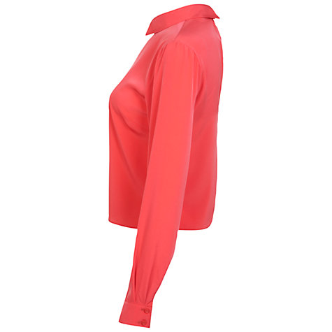 Buy Miss Selfridge Collar Top, Coral Online at johnlewis.com