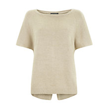 Buy Mint Velvet Split Back Knit Top, Vanilla Online at johnlewis.com