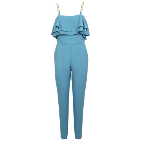 Buy Miss Selfridge Embellished Strap Jumpsuit, Blue Online at johnlewis.com