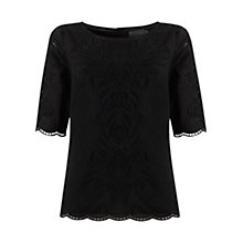Buy Mint Velvet Cut Out Embroidered Top Online at johnlewis.com