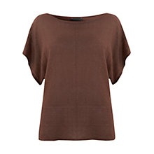 Buy Mint Velvet Kimono Knit Top, Rust Online at johnlewis.com