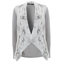 Buy Mint Velvet Jasmine Print Knit Jacket, Grey Online at johnlewis.com