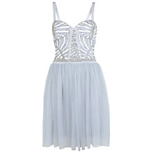 Buy Miss Selfridge Embellished Body Tutu Dress, Grey Online at johnlewis.com