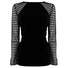 Buy Coast Billa Top, Black Online at johnlewis.com
