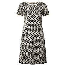 Buy Jigsaw Teardrop Jacquard Dress, Black Online at johnlewis.com