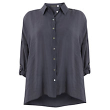 Buy Mint Velvet Oversized Shirt, Blue Online at johnlewis.com