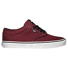 Buy Vans Atwood Canvas Trainer, Oxblood Online at johnlewis.com
