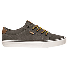 Buy Vans Bishop Washed Canvas Trainers, Black/White Online at johnlewis.com
