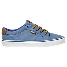 Buy Vans Bishop Washed Canvas Trainers, Navy Online at johnlewis.com