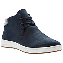 Buy Dune Step Up Suede Hi Top Trainers, Navy Online at johnlewis.com