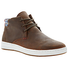 Buy Dune Step Up Suede Hi Top Trainers, Tan Online at johnlewis.com