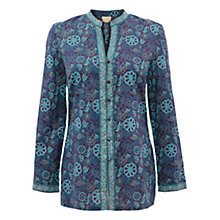 Buy East Genoa Jal Print Shirt, Purple Online at johnlewis.com