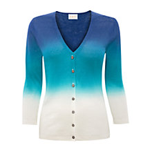 Buy East Dip Dye Linen Cardigan, Peacock Online at johnlewis.com