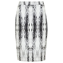 Buy Mint Velvet Billie Print Pencil Skirt, Ivory / Black Online at johnlewis.com
