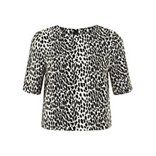 Buy Mint Velvet Leopard Print Crop Top, Multi Online at johnlewis.com