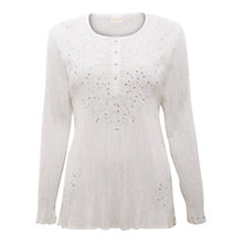 Buy East Crinkle Linen Sparkle Shirt, White Online at johnlewis.com