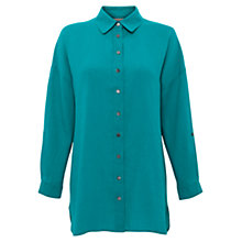 Buy East Oversized Linen Shirt, Peacock Online at johnlewis.com