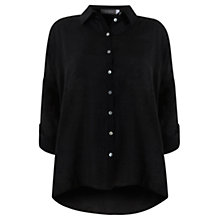 Buy Mint Velvet Oversized Shirt, Black Online at johnlewis.com